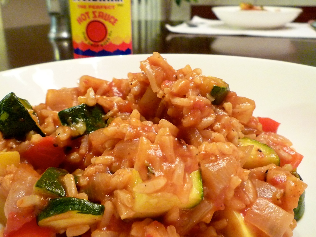 Jambalaya with Zucchini and Summer Squash | T-Bones and Tofu